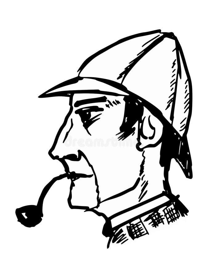 Sherlock Holmes illustration de vecteur
