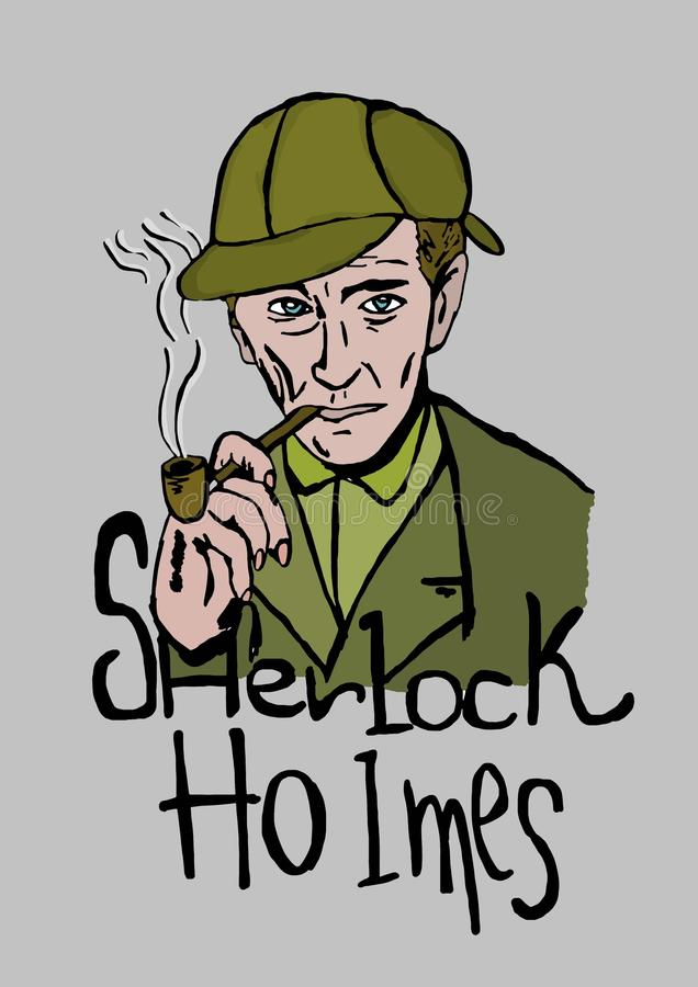 Sherlock Holmes 向量例证