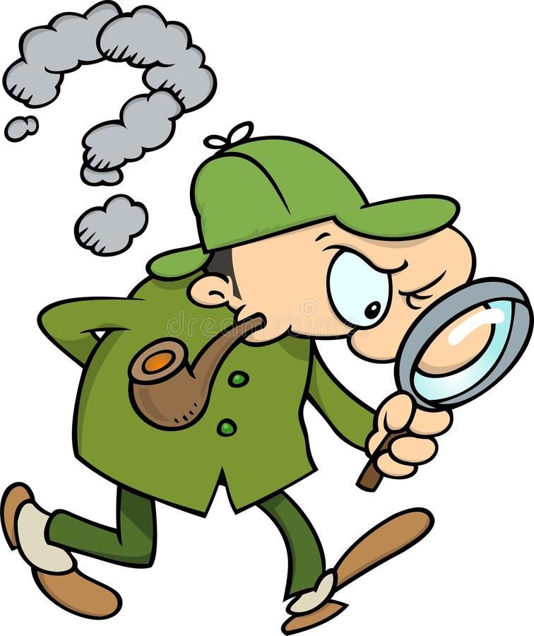Sherlock Holmes royalty-vrije illustratie