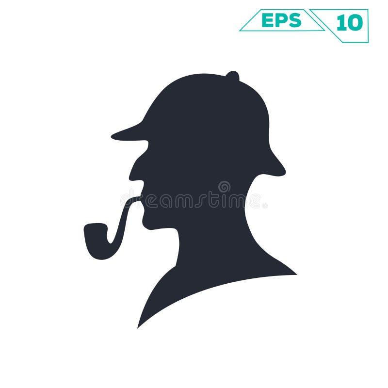 Sherlock Holmes vektor illustrationer