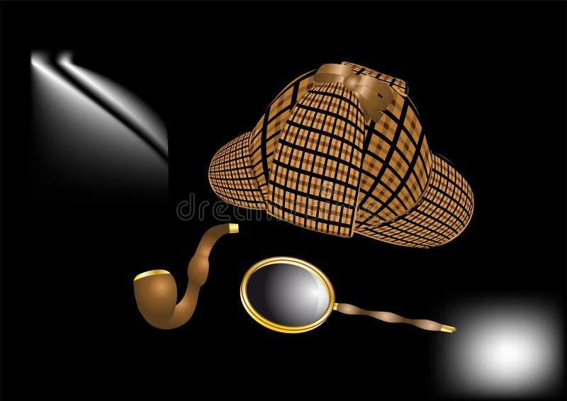 Sherlock Holmes-Ausrüstung stock abbildung