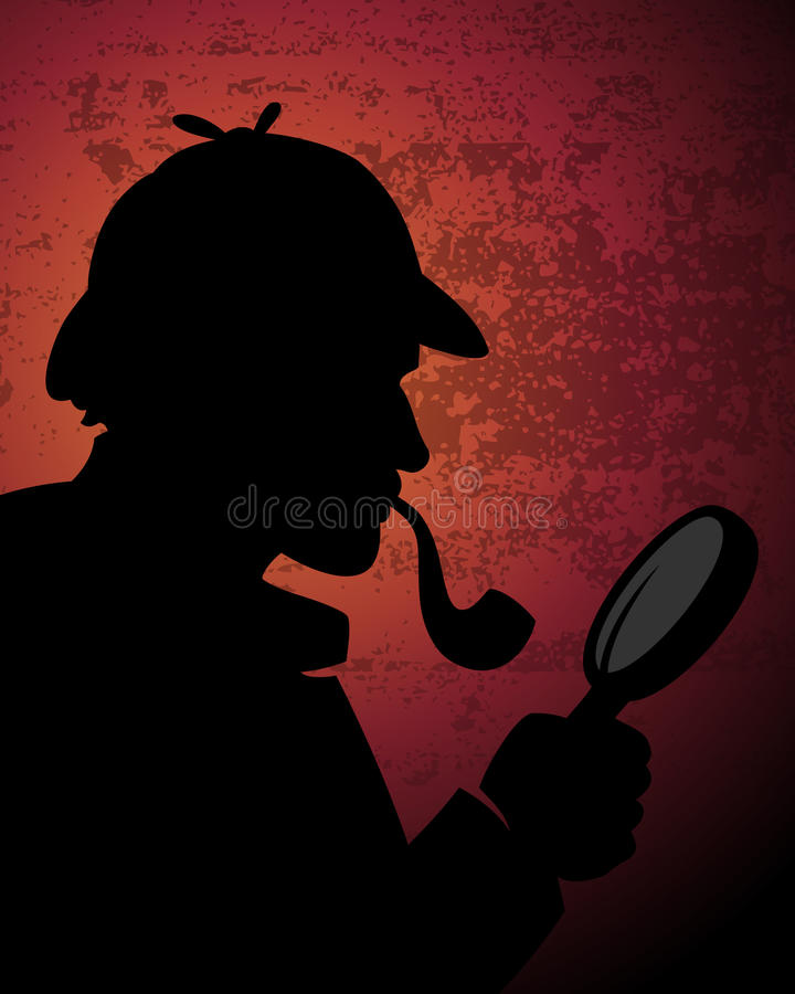 Sherlock Holmes Background ilustración del vector