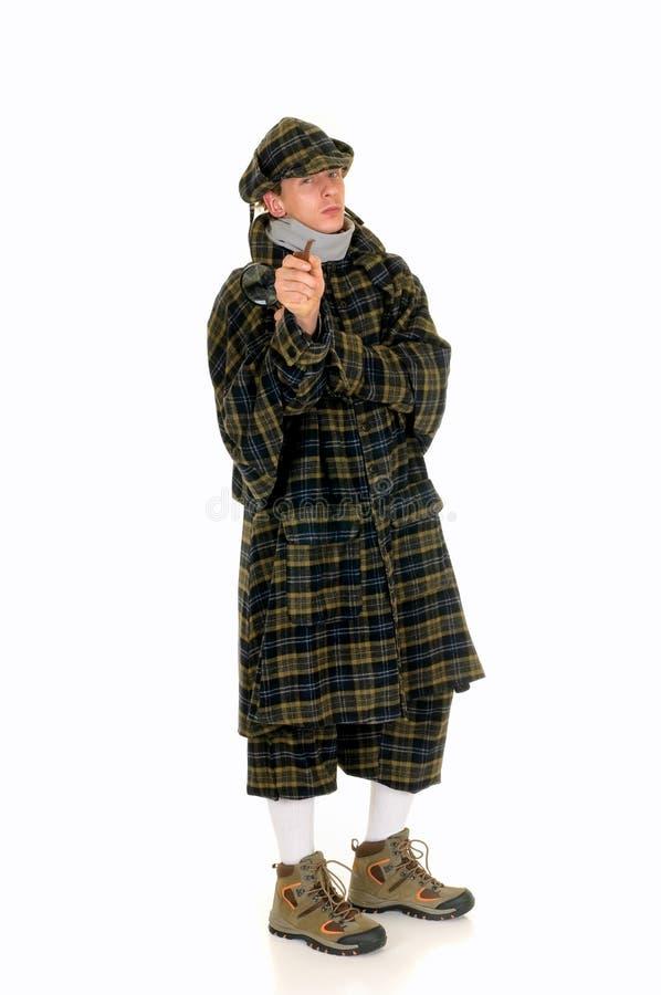 Sherlock Holmes, escena del crimen fotos de archivo