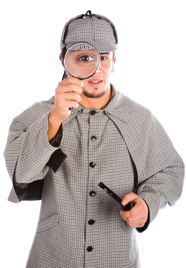 Download Sherlock Holmes With Magnifying Glass Stock Photo - Image: 16806180