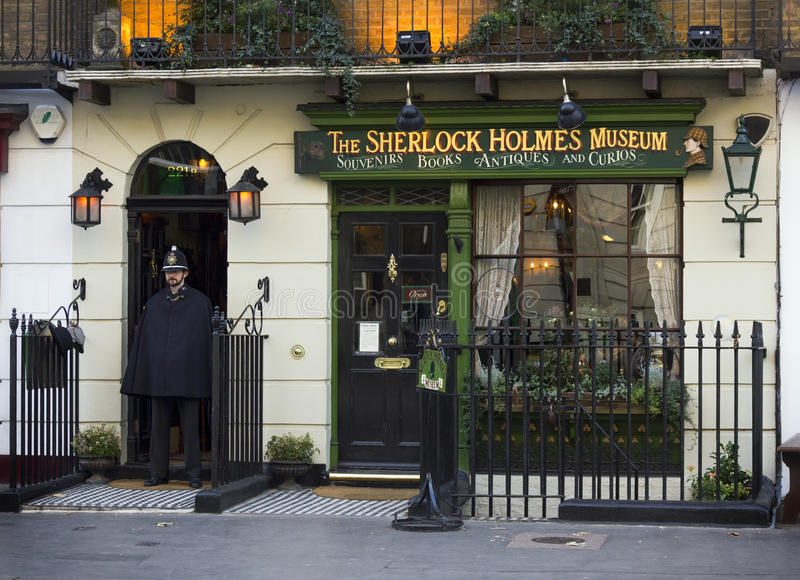 Sherlock Holmes Museum, London stock images