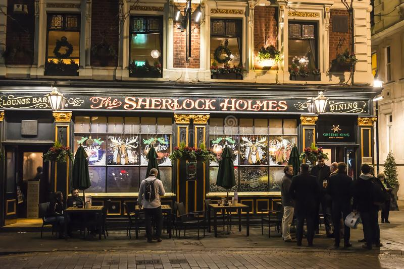 Sherlock Holmes pub, Westminster, London, England, UK royalty free stock photo