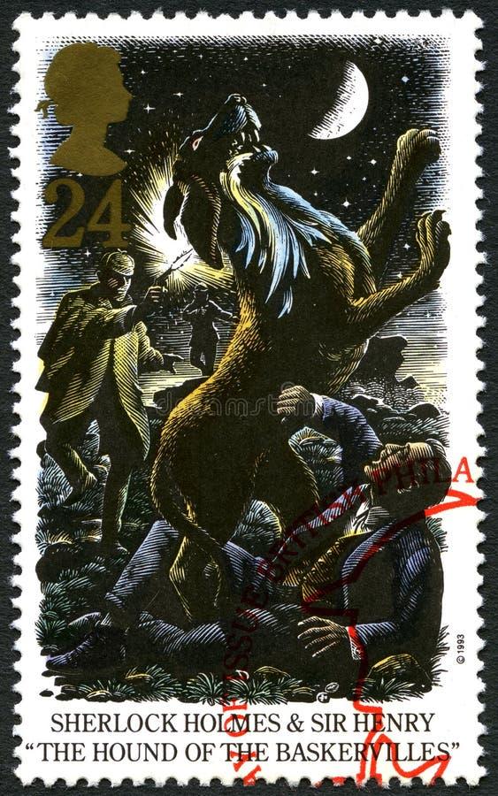 Sherlock Holmes UK znaczek pocztowy zdjęcia stock