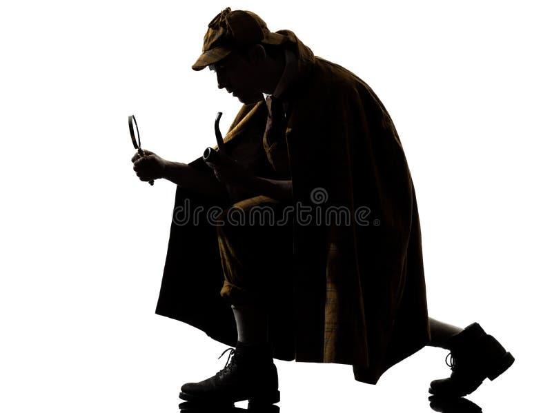 Sherlock holmessilhouette fotografering för bildbyråer