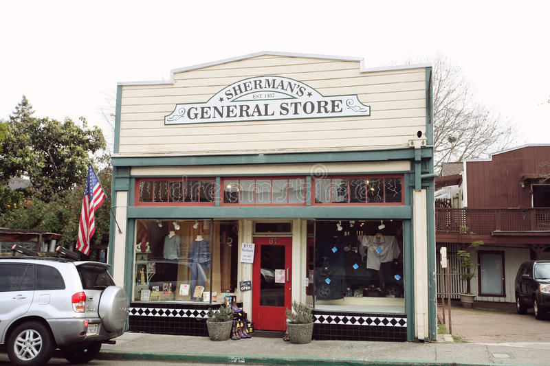 Sherman's general store in Fairfax royalty free stock photography