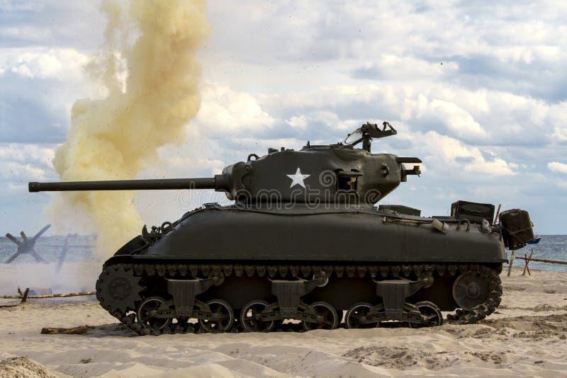 """Sherman Tank †""""WW II royaltyfri fotografi"""