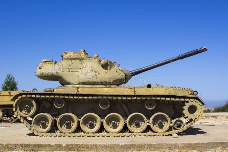 Sherman Tank rejeitado no radar de HarAdar olá! fotografia de stock