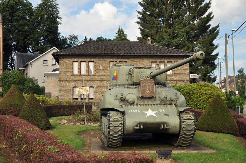 Download Sherman Tank Vielsalm editorial stock image. Image of vielsalm - 24307354