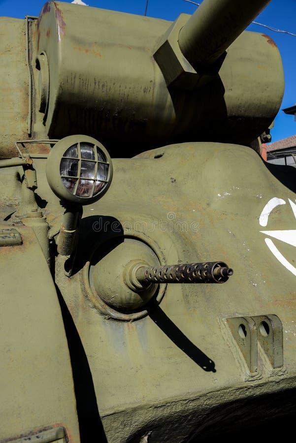 Sherman Tank WW II royaltyfri foto