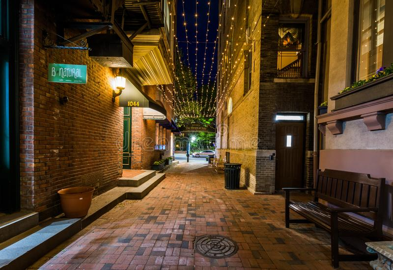 Shermans Alley in New Haven, Connecticut.  stock photography