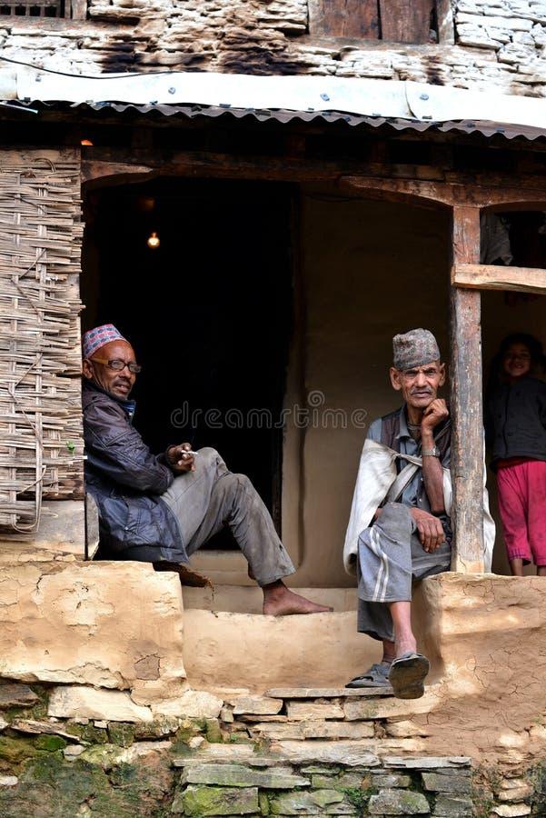 Sherpas de Gurung en Himalaya, Népal photographie stock libre de droits