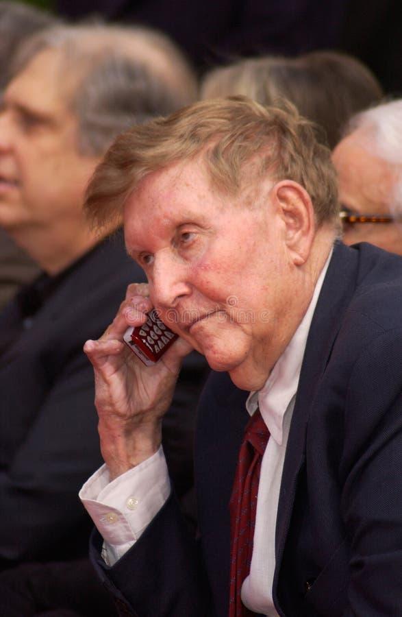 Sherry Lansing, Sumner Redstone stockfoto