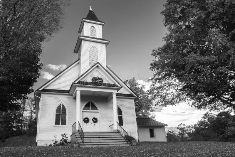 Sherry Memorial Christian Church, Giles County, VA, USA stockbilder