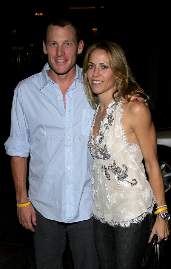 Sheryl Crow and Lance Armstrong royalty free stock images