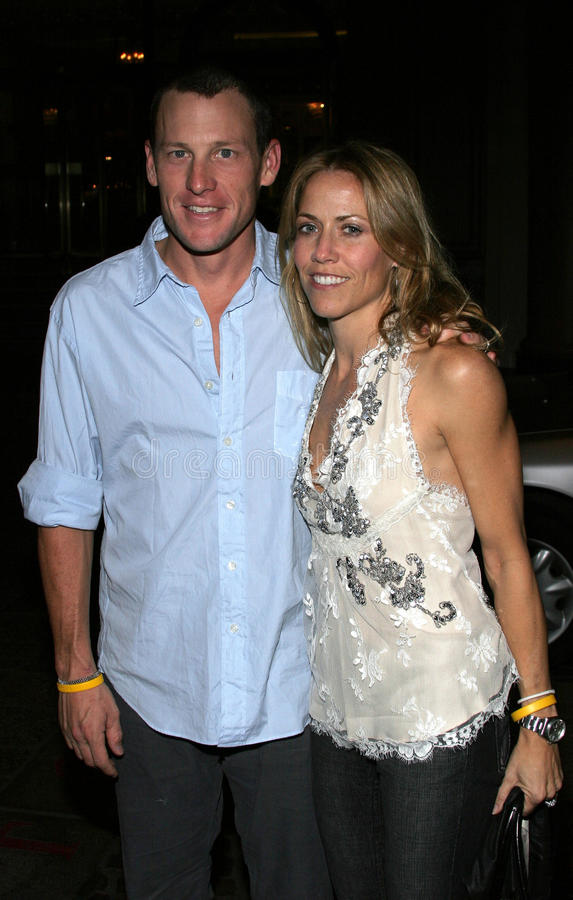 Sheryl Crow and Lance Armstrong royalty free stock photos