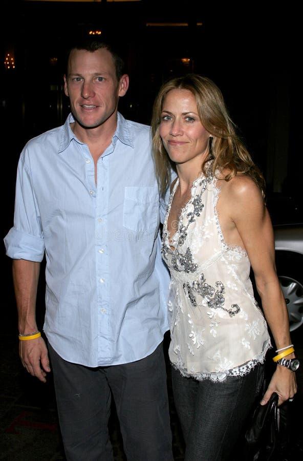 Sheryl Crow and Lance Armstrong stock photos