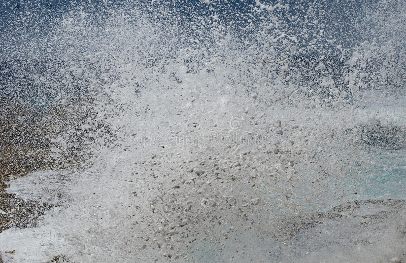 Shete博卡队-碰撞的波浪 免版税图库摄影