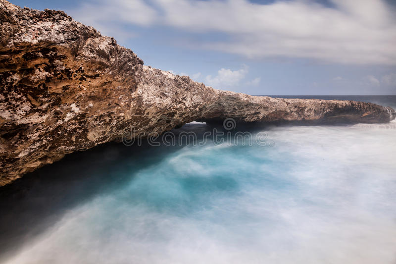 Shete Boka National Park. With wild seas on Curacao Island Caribbean royalty free stock images