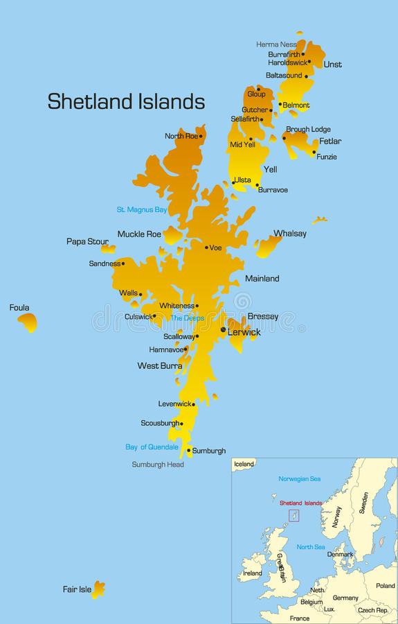 Shetland Islands royalty free illustration