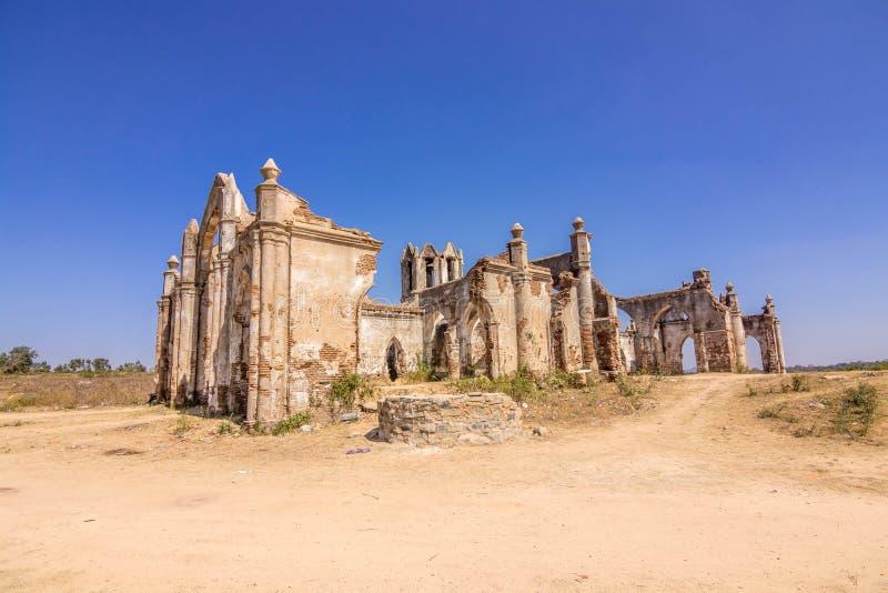 Shettyhalli kościół przy Hassan pięknym krajobrazem zdjęcie stock