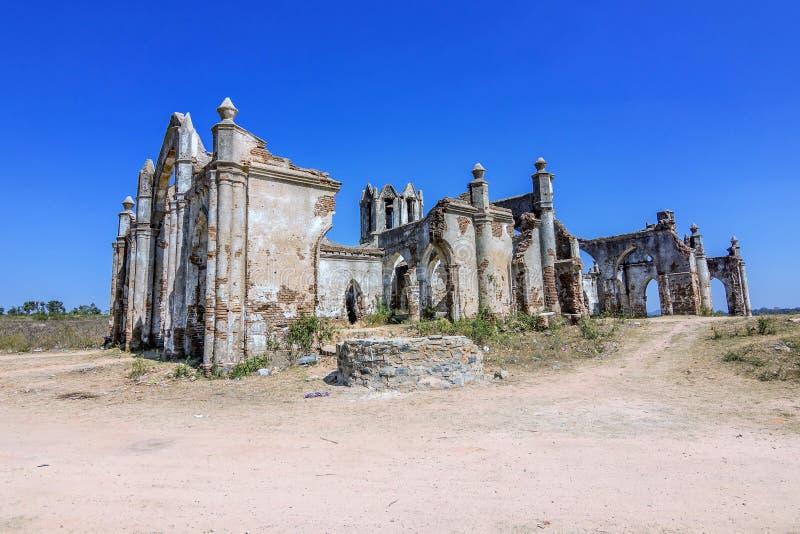 Shettyhalli kościół przy Hassan podczas zmierzchu obrazy stock