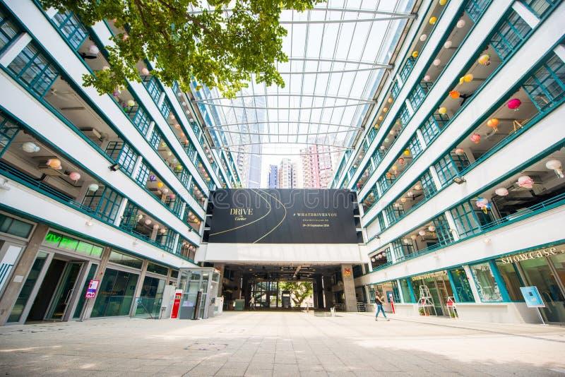 Sheung Blady Hong Kong, Wrzesień, - 22, 2016: PQM budynek był ren zdjęcie stock