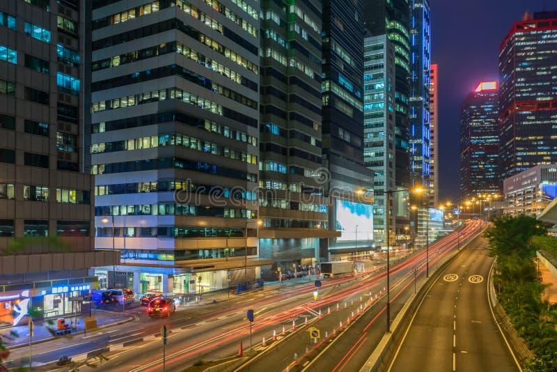 Sheung glåmigt område av Hong Kong arkivbilder