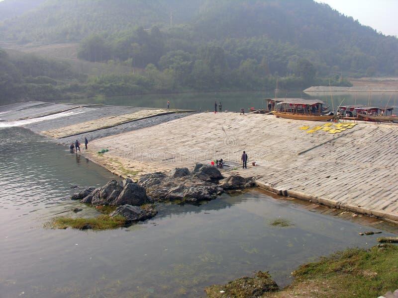 In shexian county fishing beam dam