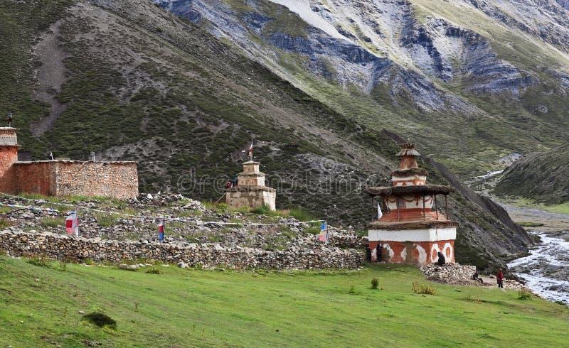 Download Shey Gompa - Ancient Buddhist Stupa Stock Image - Image: 23894767