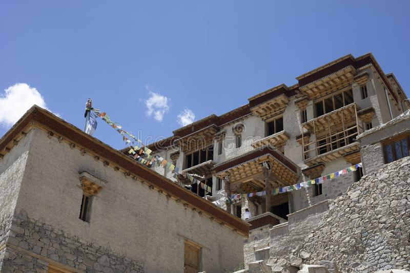 Shey Palace, Jammu and Kashmir, India. Shey used to be the capital of ancient Ladakh royalty free stock photography