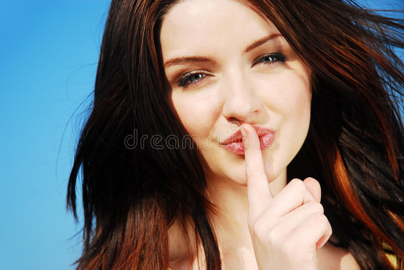 Shh! royalty free stock image