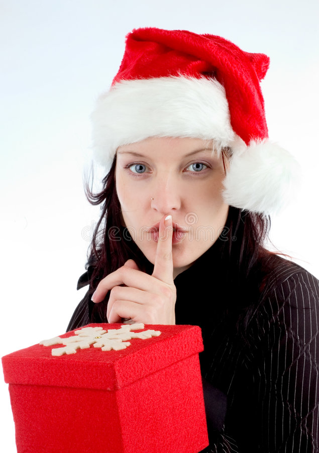 Shhh stock afbeelding