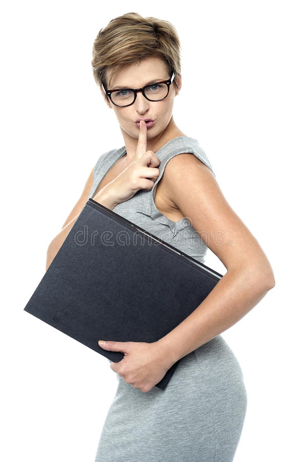 Download Shhh.. Keep it a secret stock image. Image of instructing - 27544623