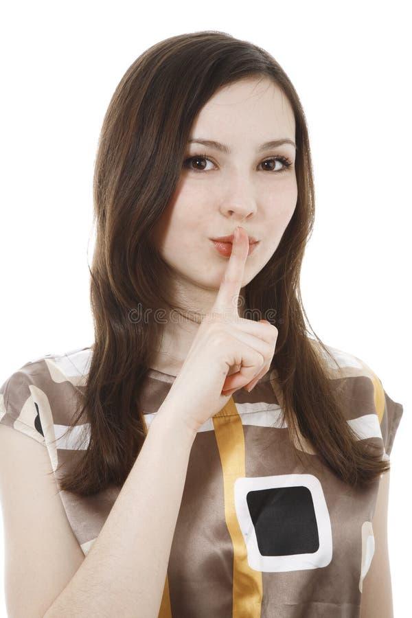 Shhhh photographie stock libre de droits