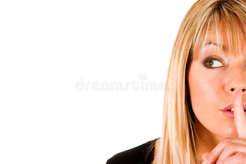 Download Shhhh stock photo. Image of attractive, cute, discretion - 1565474