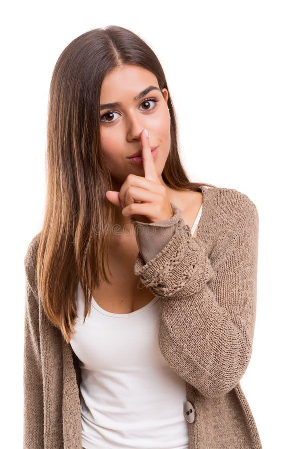 Shhhhhh ! image stock. Image du mélange, doigt, geste ...