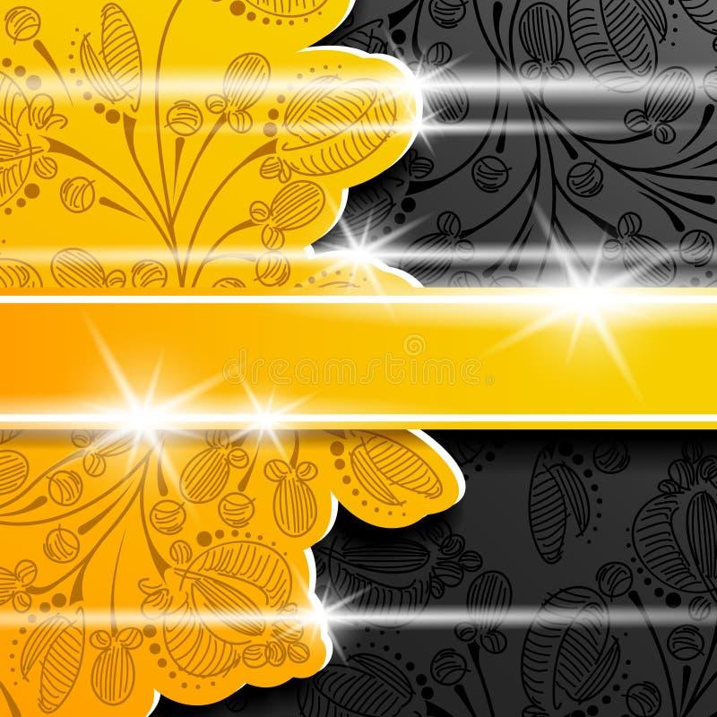 Shi floral d'ombre de couche de fleur d'abrégé sur fond illustration stock