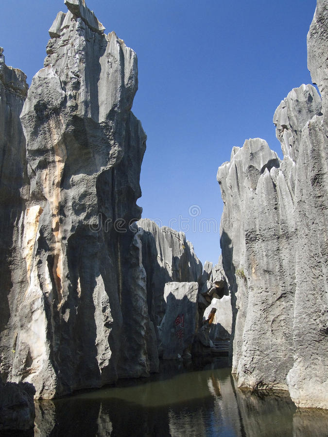 Shi Lin - stone forest royalty free stock photos