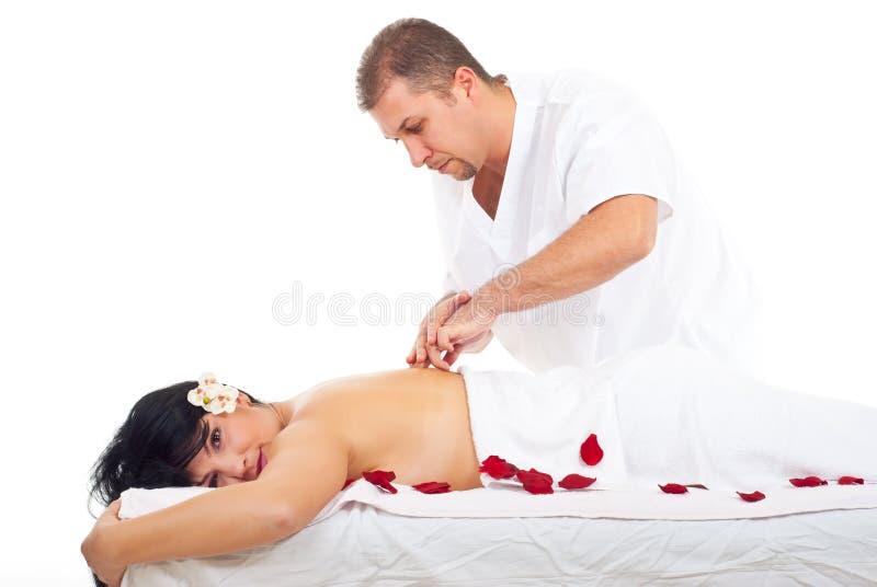 shiatsu массажа стоковая фотография