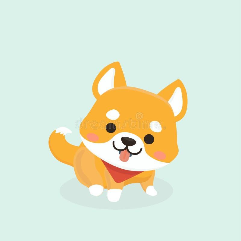 shiba inu σκυλιών απεικόνιση αποθεμάτων