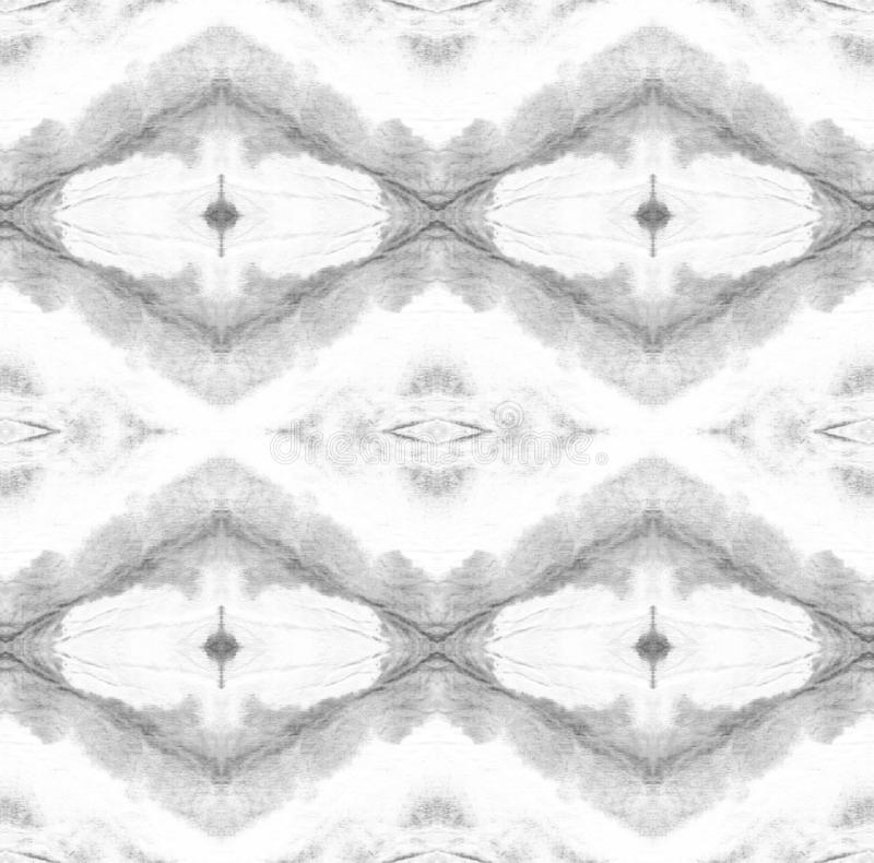 Tie Dye Pattern. Shibori seamless print. Black and White Tie Dye Pattern. Watercolor hand drawn batik. Summer ink japan illustration. Handmade watercolour shirt stock illustration