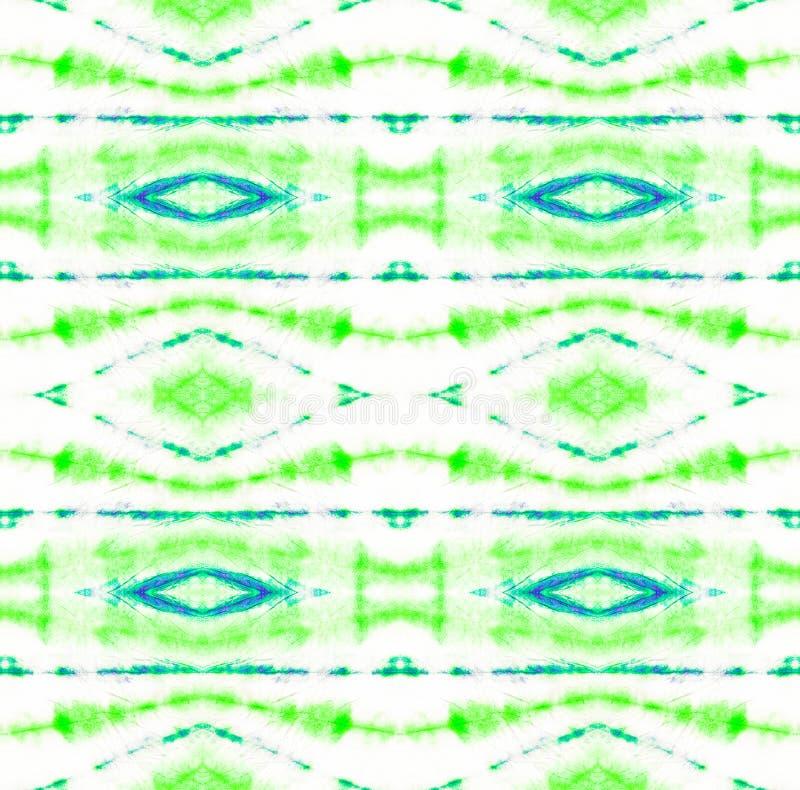 Tie Dye Pattern. Shibori seamless print. Watercolor hand drawn batik. Summer ink japan illustration. Handmade watercolour shirt tie dye pattern. Aztec stock illustration
