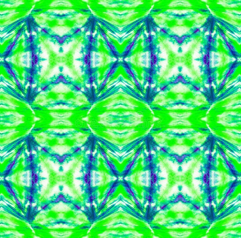 Tie Dye Pattern. Shibori seamless print. Watercolor hand drawn batik. Summer ink japan illustration. Handmade watercolour shirt tie dye pattern. Aztec royalty free stock image
