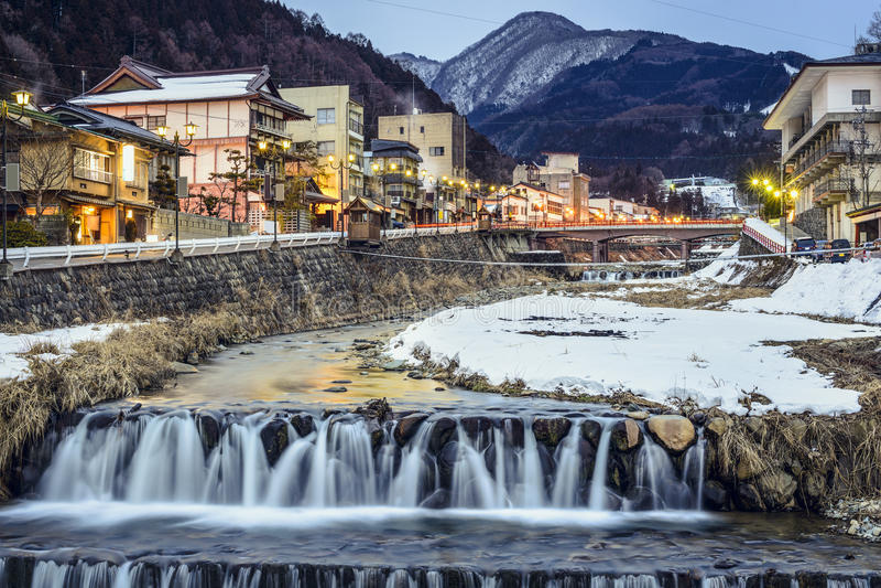 Shibu Onsen, Giappone fotografie stock libere da diritti