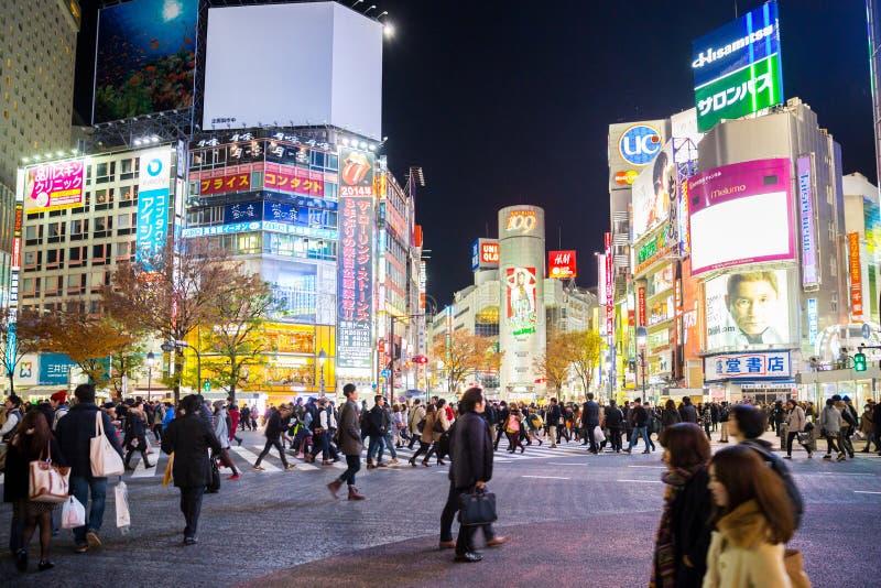 Shibuya-Überfahrt stockfoto