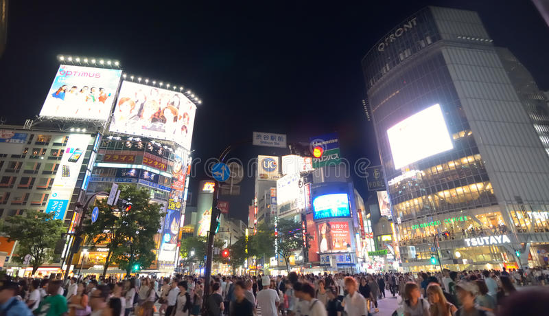 Download Shibuya Crossing editorial photography. Image of throng - 22498327